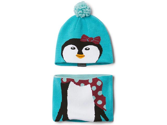 Columbia Snow More Set cappello e ghette Bambini, turchese/colorato